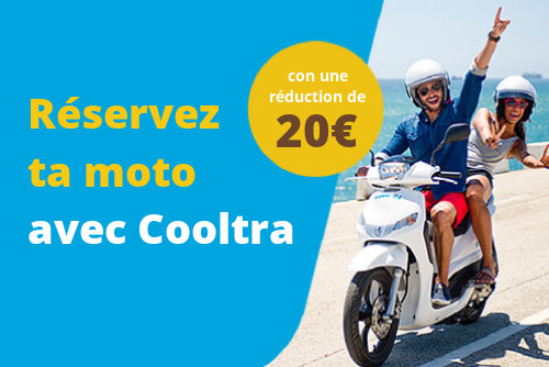 Imade du  Coupon de réduction Cooltra 20€. Réservez tu moto
